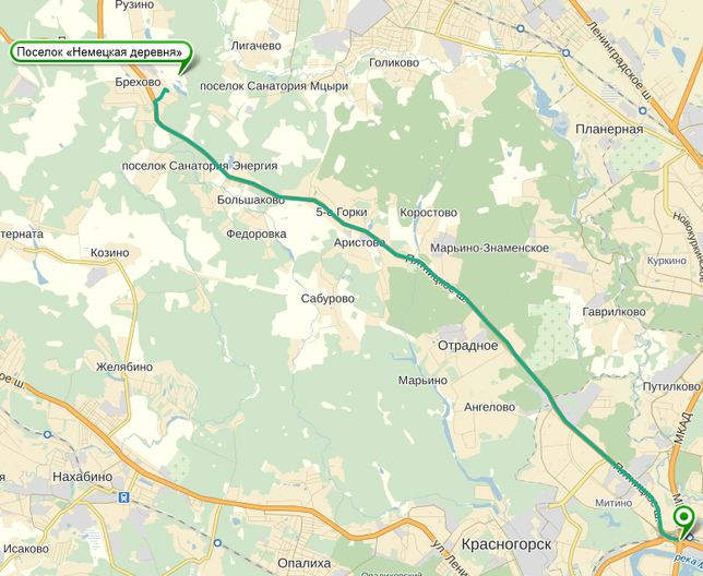 схема проезда в поселок